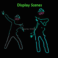 Neon Led Bulbs Night Lamp Gorgeours Paper Form Person With Hat DIY Funny Light Up EL