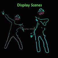 Formulário De Papel Neon Lâmpadas Led Night Lamp Gorgeours Pessoa com Chapéu DIY engraçado Light Up EL Fio Roupas para Escuro Brilho Partido Props