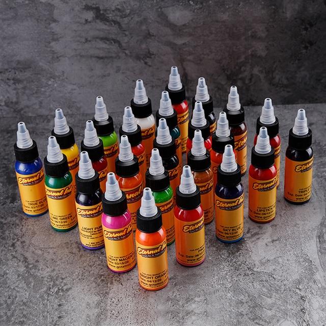 Microblading Pigmentos Tattoo Ink Set Body Arts 30ML Professinal Beauty Permanent Makesup Paints 16 color set