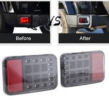 1 Pair LED Tail Rear Back Bumper Light Parking Reverse Brake Lamp Led Fog Lamp for Jeep Wrangler Jk Bumper 2007-2016