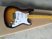 Free Delivery! New high quality guitar in sunlight burst natural wood electric guitar.