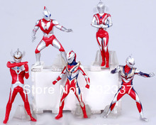 New Arrival PVC Ultraman action figures Best Christmas Gifts for children  5pcs/set