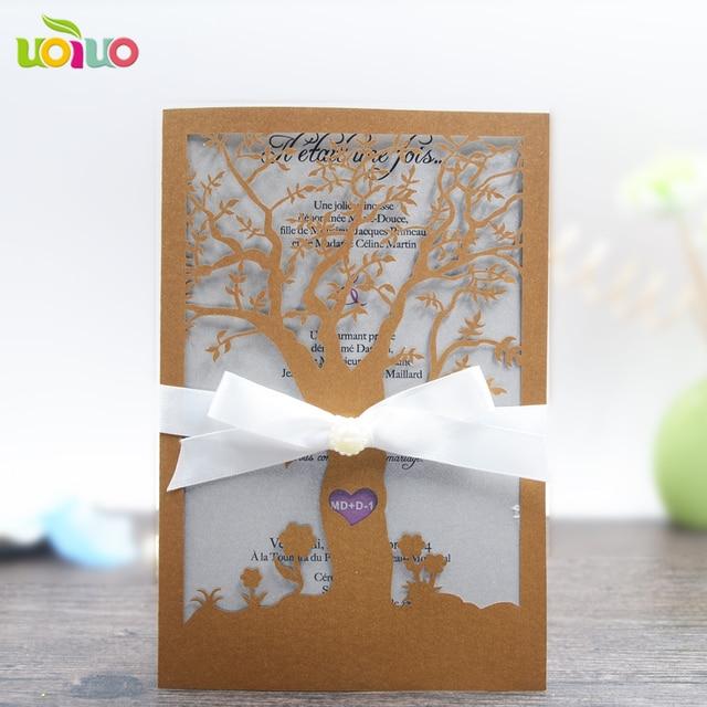 Schone Baum Danke Laser Cut Luxuriose Hochzeitskarten Baum Einladung