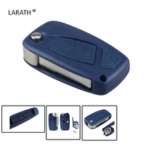 LARATH Folding Remote Key Shell Case Cover  SIP22 blade 3 Buttons Ffor FIAT Punto Ducato Stilo Panda Case Fob Blue