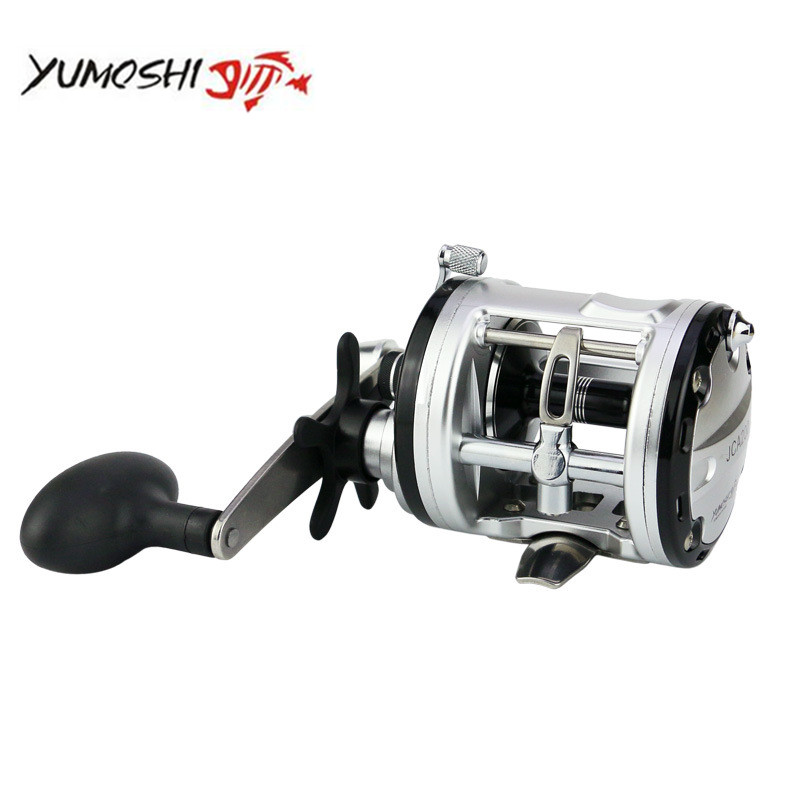 YUMOSHI Max Drag Boat Fishing Reel Right Handle optional Lure Fishing Reel 12+1BB Bait Casting drum wheel coil tackle For Bass right hand drum reel lure cast wheel bait casting reels boat fishing 12 1bb 2000 3000 4000 5000