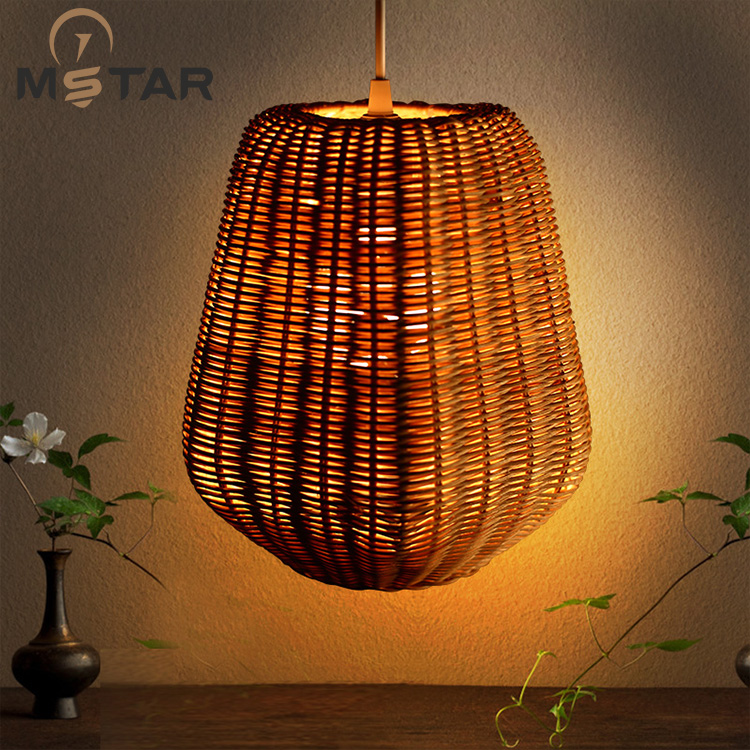 rattan rattan lamp chandelier bedroom dining study personality of classical Chinese New Retro chandelier Chandelier chinese style wooden 1 2 3 heads lamps chinese restaurant new classical restaurant chandelier wooden sheepskin chandelier