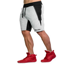 2018 Men cotton shorts Calf-Length  Gyms Casual Joggers Workout Brand Sporting  Fitness Bodybuilding 3D Short Pants