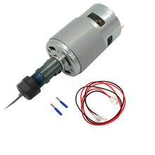 Moteur de broche 12-36V pour Machine à graver, cc 775, avec tige d'extension ER11, pour routeur CNC 1610/ 2417/ 3018