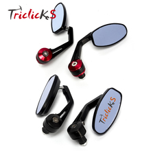 Triclicks New 2 Colors Aluminum Rearview Side Mirror Handle Bar End Racing Motorcycle 7/8