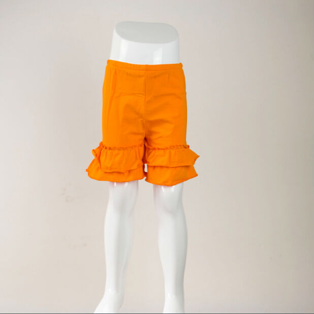 Custom childrens clothing girlBaby Girls High Quality Wholesale Shorts Boutique Clothes Pants Toddle Cheap Double Ruffle Shorts