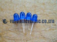 10PCS 10mm led diode SUPER BRIGHT BLUE Diffused LED LAMP F/R