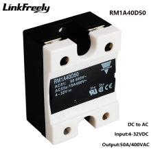 цена на RM1A40D50 50A DC AC Solid State Relay,Output:42-440VAC Input:5V 12V 24V DC SSR Relay,Soft Starting Voltage Relay Switch Board