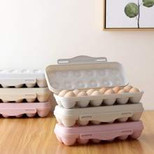 Portable Plastic Kitchen Egg Storage Box 18/12 Grid Food Container Organizer Boxes for Stackable Tray