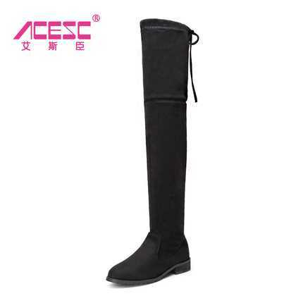 ФОТО 2017 New Arrival Winter Boots for Women Fashion Brand Long Boot Shoes Ladies Thick Heels Women's Over The Knee Boots S3274