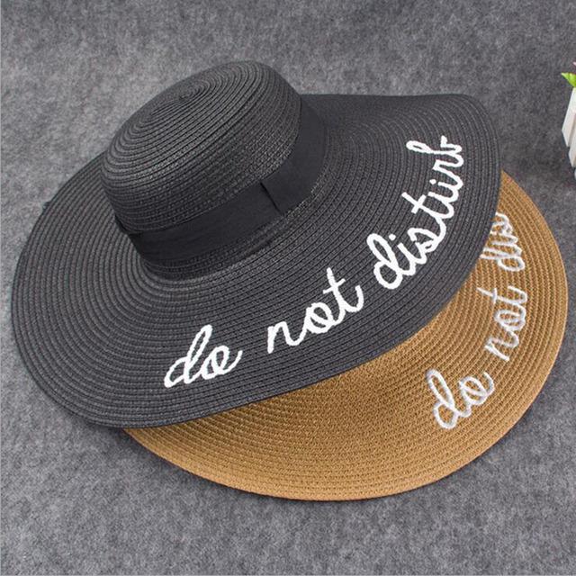 Women Sun Hat Wide Brim Straw Hat