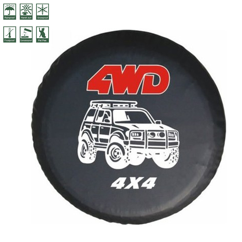 Car wheel cover Car Accessories  Custom automobile spare tire covers 14 15 16 17 inches spare tire cover For CY-63 4WD 4X4 serie
