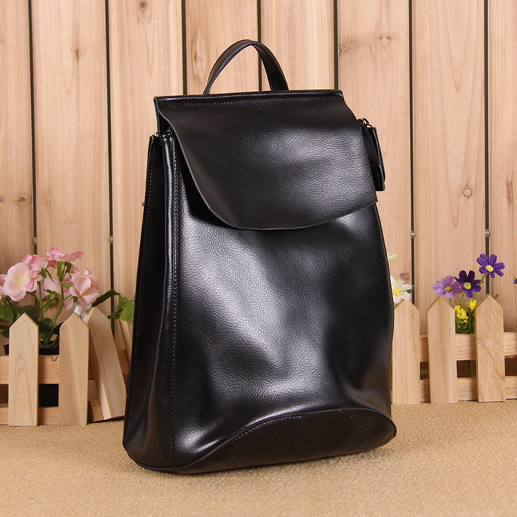 Genuine Real Leather Rucksack SchoolBag BackPack For Lady Casual Urban Free Shipping Simple Design High School Motorcycle Bag