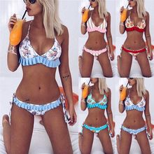 Phaixoneible New Swimwear Sexy Bikini Set Women Swimsuit Summer Bathing Suit Female Beachwear Print Biquini