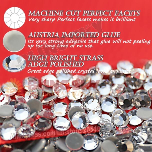 Bra kvalitet! AAA HotFix Rhinestone SS20 Klar Crystal 1440st / Bag - Konst, hantverk och sömnad - Foto 4