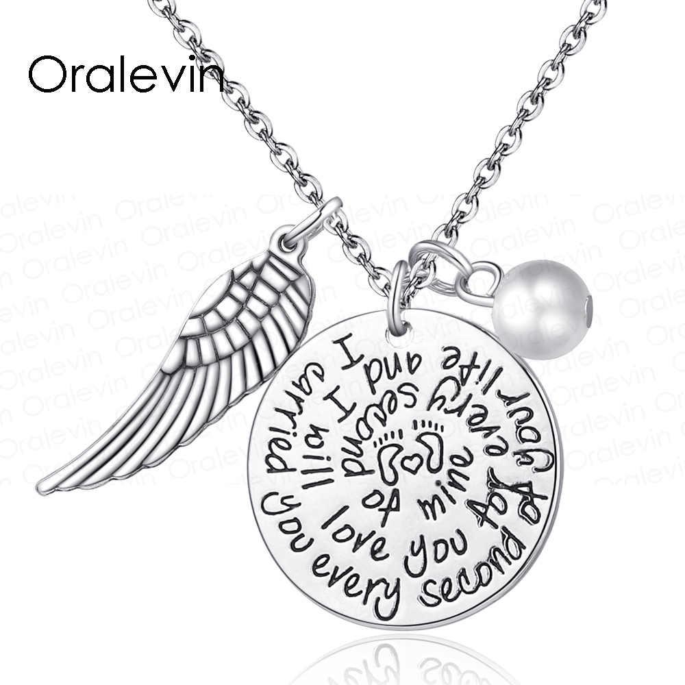 """נשא אותך בכל שנייה של תכשיטי שרשרת קסמי זיכרון בזיכרון של החיים שלך אהב 18 """", # LN1439"""