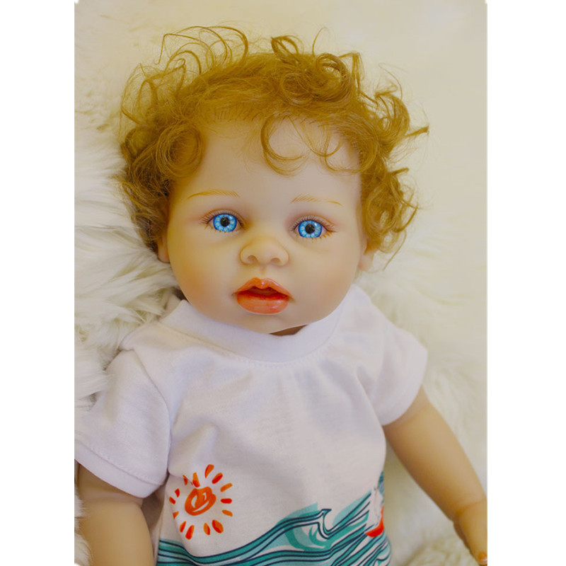 2017 New Arrival 18 Inch Full Silicone Reborn Boy Doll Reborn Vinyl Reborn Babiess for Boy Gifts Realistic Soft Alive Baby Doll 2016 new arrival pregnant doll with mini baby in belly baby alive reborn doll in her tummy happy family for little keri