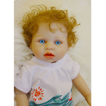 2017 New Arrival 18 Inch Full Silicone Reborn Boy Doll Vinyl Babiess for Gifts Realistic Soft Alive Baby