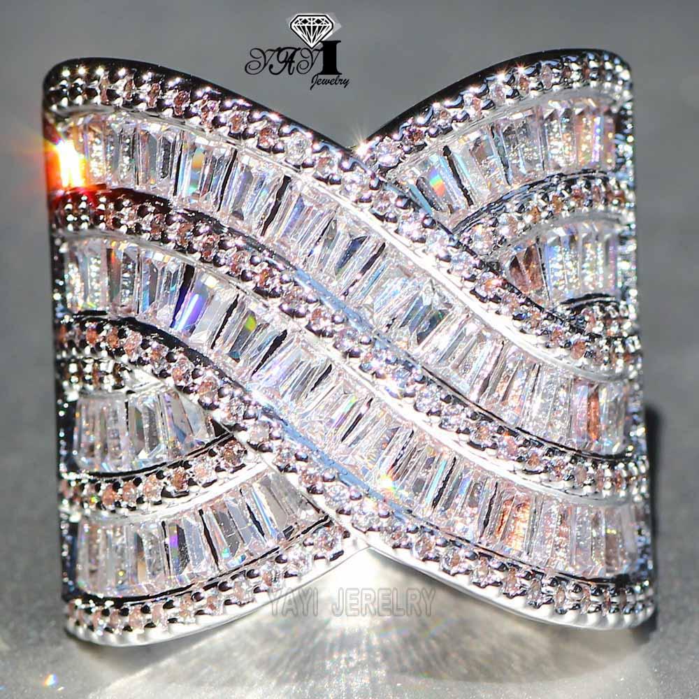 Hochzeits- & Verlobungs-schmuck Yayi Schmuck Mode Prinzessin Cut 8,2 Ct Riesige Rosa Zirkon Silber Farbe Verlobungsringe Hochzeit Herz Partei Schellt Geschenke Verlobungsringe
