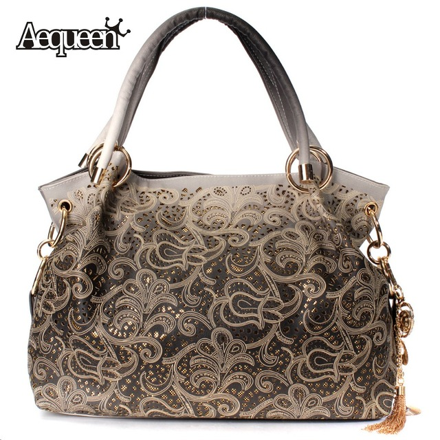 Fashion Elegant Women Handbag Hollow Out Design Large Bags Tote Ladies High Quality Leather Shoulder Bag Eurpean Style Bolsa New