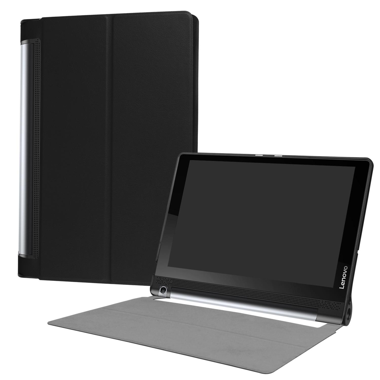 Couverture en cuir cas funda Pour Lenovo Yoga Tab3 Plus YT-X703 10.1 tablet Pour Yoga Tab 3 10 Pro X90 cas + Film + Stylet