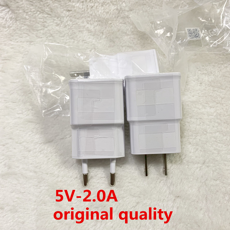 250PCS lot original quality 5V 2A US EU Plug Wall Travel USB Charger Adapter For Samsung