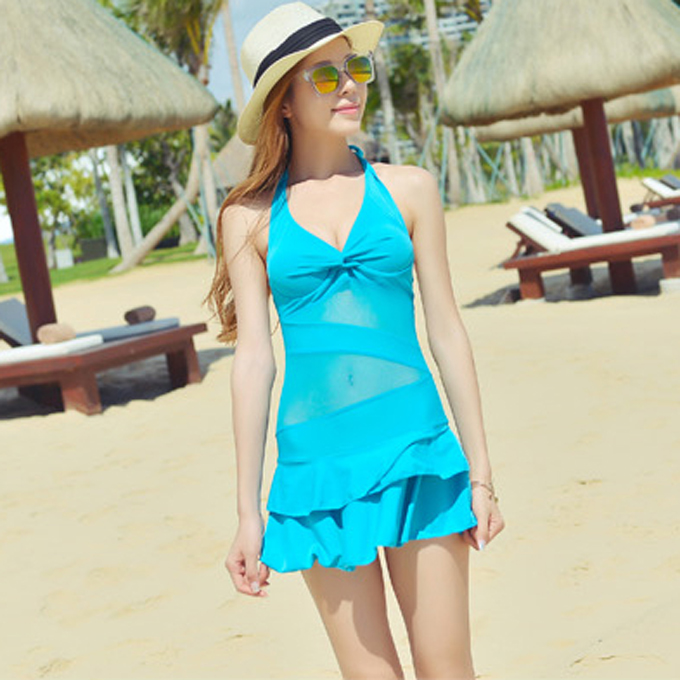 d0d40c6026d57 Fashion women ladies girls students sexy hot swim swimming pool surfing  bathing spa springs beach dress suit swimsuit swimwear-in One-Piece Suits  from ...