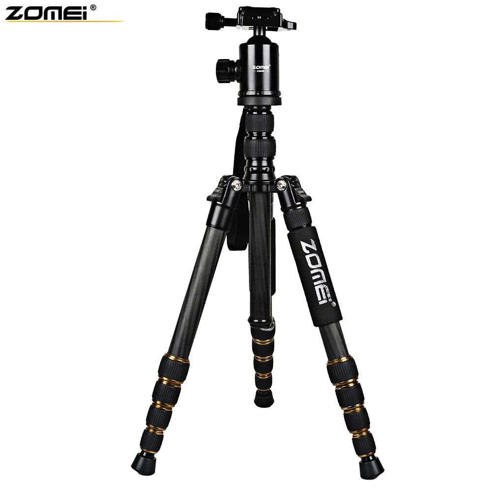 Zomei Z699C 59.4 Inches Professional Portable Travel Carbon Fiber Camera Tripod Monopod+Ball head for Digital SLR DSLR Camera triopo gxt 2804 slr camera carbon fiber tripod portable monopod