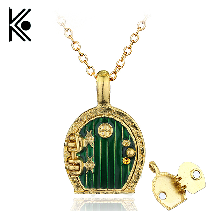 Lord of Collar Women jewelry Fairy Door Pendant Necklace Magic Fantasy Lord Of The Locket Shire Enamel Necklace