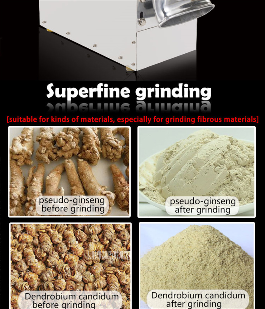 DLF-70 High efficient continuous grinding machine herbal grinder superfine power machine Stainless steel Material 5200r/min 13
