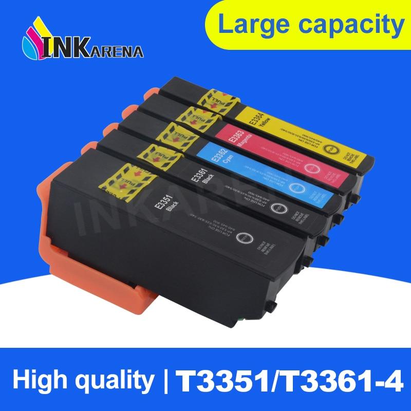 5 cor t33 33xl t3351 cartucho de tinta compativel para epson expression premium xp 530