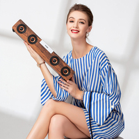 20W TV Soundbar wireless bluetooth speaker Smalody Wooden Stereo bass portable subwoofer PC computer boombox FM Radio sound box