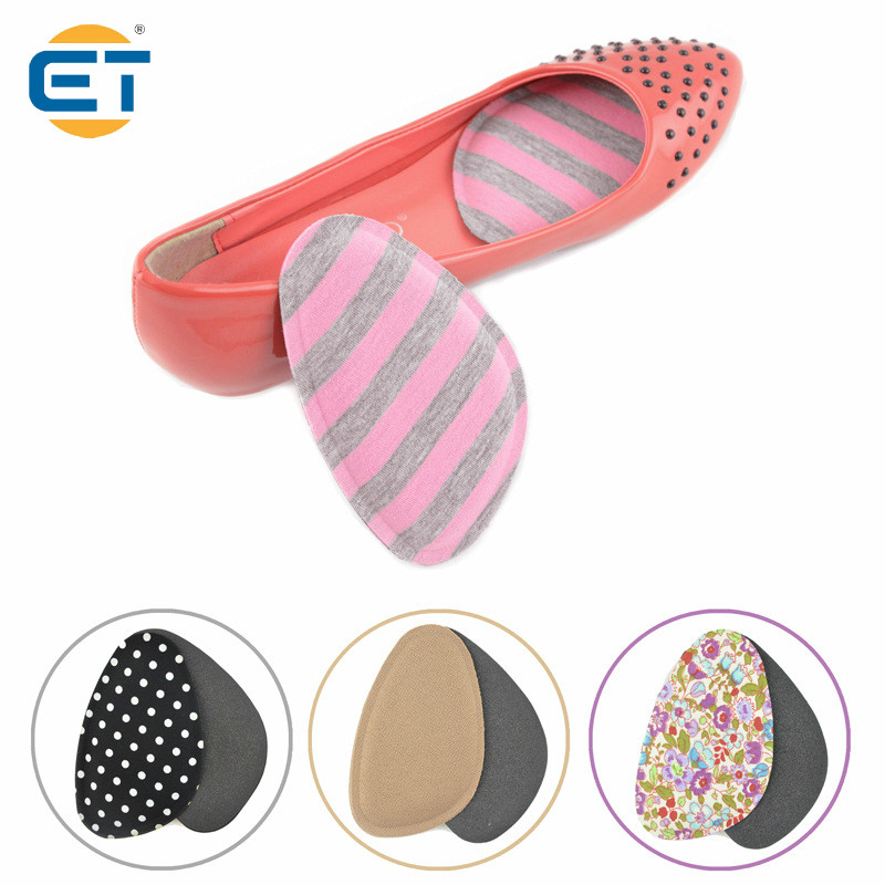 4 Pairs Sponge Pad Half Code Semi Cushioned Insole Anti Foot Massage 4 Color 10 pairs breathable latex rubber pad half code wholesale silicone half code inserts high heeled shoes insoles stick slip