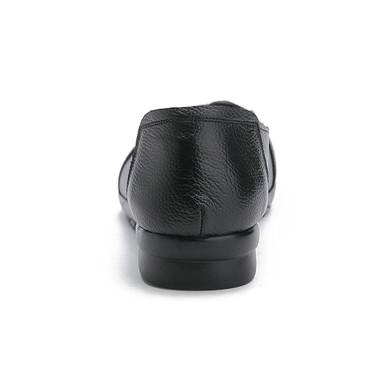 Женские лоферы на плоской подошве DONGNANFENG, мягкие лоферы из натуральной кожи с закругленным носком, Размеры 35-41, MLD-1288