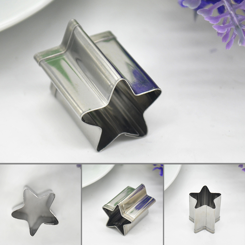 High Quality Stainless Steel Star Shaped Mold Biscuit Pastry Baking Cutter Mold/Dies for making cupcake Jelly Chocolate Candle
