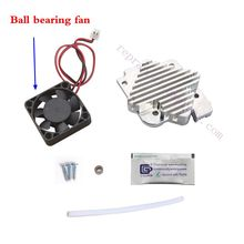Titan Aero Upgrade Kit w/ 12V 24V Ball bearing fan for 1.75mm/ 3.0mm Titan extruder, V6 Hotend Reprap 3D printer, CNC Made