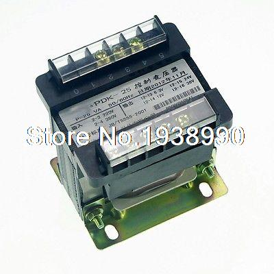 (1)Input AC 220V Output AC 110V Single Phase Volt Control Transformer 25VA Power 1 input ac 220v output ac 110v single phase volt control transformer 50va power