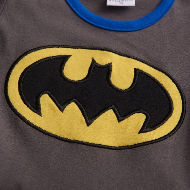 Bébé Garçons Batman Barboteuses Infantile Parti Combishort Salopette Costume Taille 0-24 Mois