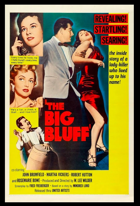 The Big Bluff Beauty Classic Movie Film Noir Retro Vintage Poster Canvas Painting DIY Wall Paper Home Decor Gift image