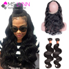360 Lace Frontal With Bundle 2pcs Malaysian Body Wave Human Hair 360 Lace Frontal Closure With Bundles,360 Frontal With Bundles