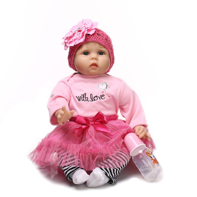 NPK COLLECTION Silicone reborn baby doll toy 55cm high-end newborn girl doll lifelike birthday gifts bedtime play house toy 55cm silicone reborn baby doll toy lifelike npkcollection baby reborn doll newborn boys babies doll high end gift for girl kid
