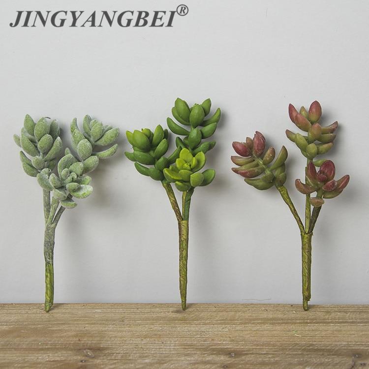 Lotus Echeveria Elegance Artificial Succulent Plant Plastic Flower Plant Background Micro Landscape Decoration simulationwedding
