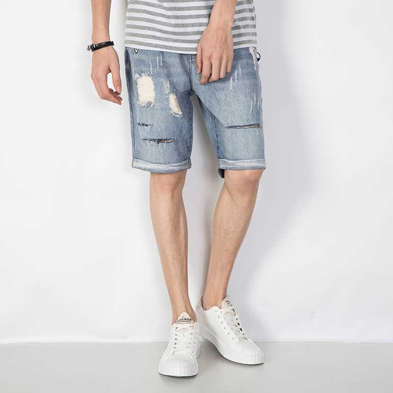 Aliexpress.com : Buy 2017 Summer Men's Ripped Jeans Shorts Light ...