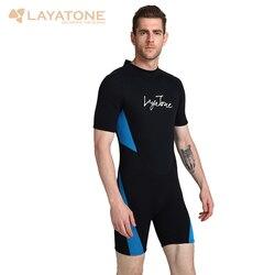 Traje de neopreno LayaTone para adultos de 3mm, traje de neopreno para buceo, traje de baño para mujer para Surf y Kayak, traje de baño de una pieza para hombres