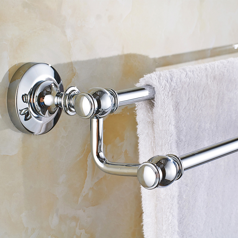 European Towel Rack Copper Double Towel Bar Antique Towel Rack Bathroom Pendant Bathroom Accessories european copper gold towel rack toilet towel bar bathroom antique rotary towel bar antique activities towel 3 bar f91381