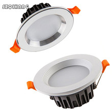 7W 10W 15W 20W Dimmable Led Spot Light 220V 110V Aluminum Warm/Cold White LED Recessed Ceiling Down Light For Kitchen Bedroom free shipping dimmable 10w cob led ceiling light 110v 220v warm white cold white recessed led lamp down light for home lighting